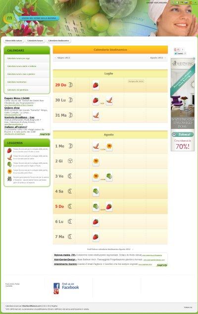 Calendario Lunare Di Bellezza.Calendario Biodinamico 2019 Calendario Lunare Semine